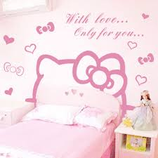 hello kitty wall sticker home decorating interior design bath hello kitty wall sticker part 31 jiu jiu cartoon girl bedroom bedside wall stickers