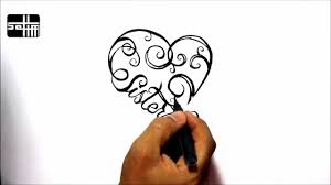 how to draw sisters heart tribal tattoo design style amazing