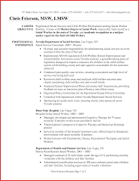 Social Worker Objective On Resume Best Lmsw Resume Sample Gallery Simple Resume Office Templates