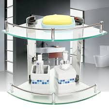 Shelf Organizer by Modern Glass Bathroom Bath Shower Triangular Shelf Organizer