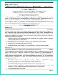Chef Sample Resume by Chef Resume Sample Examples Sous Chef Jobs Free Template