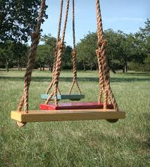 tree swing set of 2 woodwork swings and yards