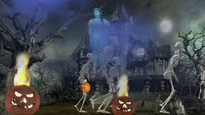 Halloween Skeleton Games by Skeleton Invasion Halloween Projection Effects Dvd Youtube