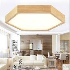 wood flush mount ceiling light 2018 modern minimalist wood led ceiling lights hexagon flush mount