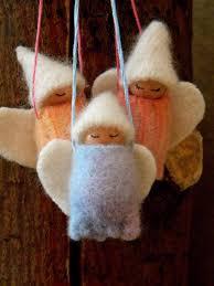 waldorf christmas angel ornaments holiday ornaments angel gnome