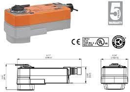 afrb24 belimo afrb24 valve actuator spring return 180 in lb on