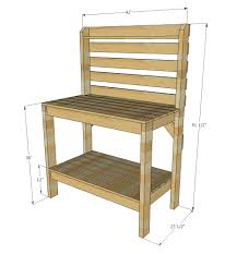 Simple Wood Bench Instructions by Ana White Ryobination Potting Bench Diy Projects