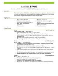 Food Service Resume Examples by Splendid Design Inspiration Server Resume Examples 14