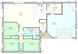 plan plain pied 3 chambres plan maison plain pied 100m2 3 chambres immobilier pour tous plein