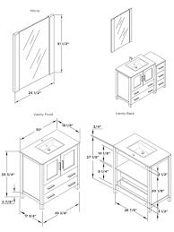 Double Vanity Size Standard Standard Vanity Size Home Design