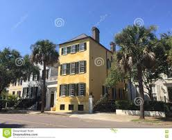 southern style homes on tradd st charleston sc editorial stock