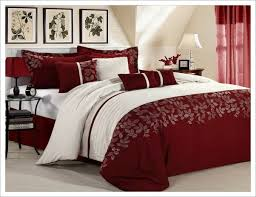 Red And White Comforter Sets Red Black And White Queen Comforter Set Home Design Ideas
