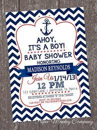 nautical theme baby shower nautical themed baby shower invitations cloveranddot