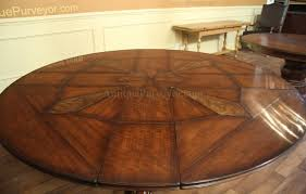 Large Round Dining Table Seats 6 Jupe Table For Sale With Self Storing Leaves Round Dining Table
