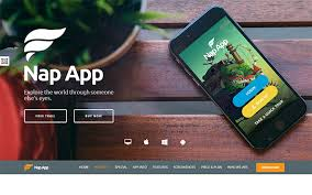 nap app apps landing template bootstrap landing pages