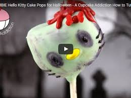 Halloween Cat Cake by Zombie Hello Kitty Cake Pops Tutorial Cakecentral Com