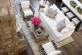 Zebra Chairs Contemporary Living Room Atlanta Homes  Lifestyles - Modern living room furniture atlanta