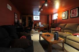 rearranging the basement living room and dining room home