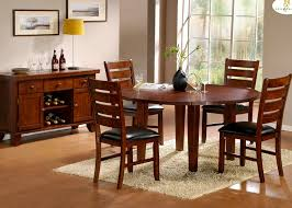 round dining table for 6 with leaf homelegance ameillia drop leaf round dining table in dark oak