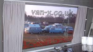 Camper Van Blinds Vw T4 T5 Side Window Curtains Curtains Youtube