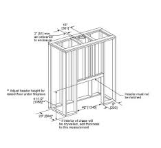 Fireplace Insert Dimensions by Sovereign Wood Burning Fireplace Majestic Products
