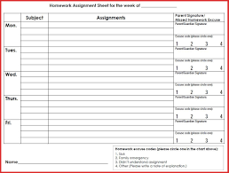 fresh assignment sheet printable excuse letter