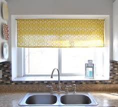 luxurious curtain motive plus glass tile kitchen window ideas and