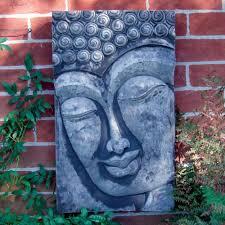 20 ideas of outdoor buddha wall art wall art ideas stone enlightened buddha head wall plaque garden art s s shop pertaining to outdoor buddha wall