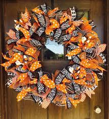 how to make a halloween ribbon wreath