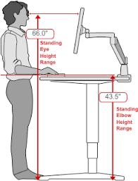 Height Of Office Desk Human Solution Standing Desk Dimensions Workstation Pinterest