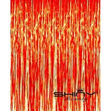 wedding backdrop cost low cost shinybeauty foil fringe backdrop orange 3ftx8ft shimmer