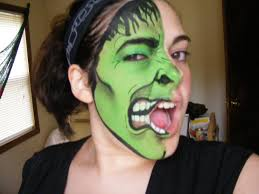 the incredible hulk marvel series face paint tutorial youtube