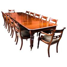 12 Seat Dining Room Table Antique William Iv Mahogany Extending Dining Table And 12 Chairs
