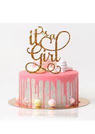 baby shower cakes for a girl it s a girl cake topper baby shower cake topper baby shower