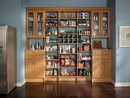 high light brown wooden cabinet with glass doors and shelves plus