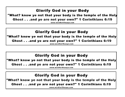 glorify god in your body u201d sunday lesson 1 corinthians 6 12
