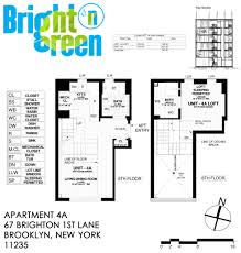 Studio Loft Apartment Floor Plans by Bright N Green Apartment 4a U2022 Floor Plan