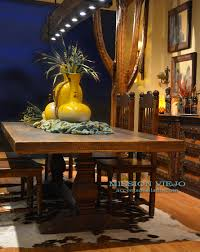 enchanting western kitchen table including azul barnwood chairs
