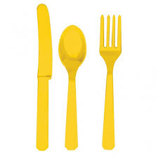 amscan plastic party cutlery set knives forks u0026 spoons set of