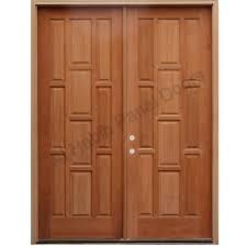 Wooden Door Design Solid Wood Main Double Door Hpd413 Main Doors Al Habib Panel
