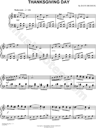 dave brubeck thanksgiving day sheet piano in c major