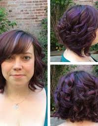 purple highlights on dark brown curly hair hairstyle picture magz