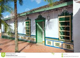 spanish style house in colombia stock photo image 19215430