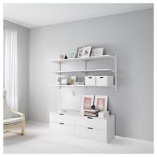 White Sling Bookcase by Wall Mounted Shelves Ikea