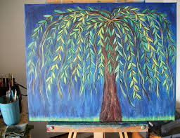 Willow Tree Home Decor Creative Stash Painting In Progress Willow Tree