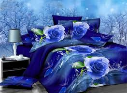 Blue Bed Sets 3d Bedding Sets Cheap 3d Bedding Collections Ericdress Com
