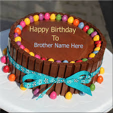 create your brother name on happy birthday cake picture free