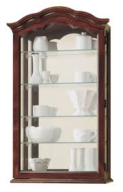 curio cabinet hanging curio cabinet glass door small wall