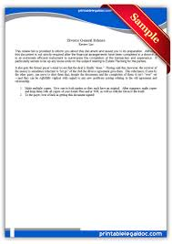 free printable divorce general release legal forms free legal