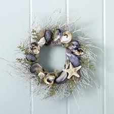 everything coastal nantucket oyster sea shell wreath love
